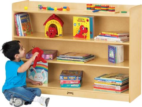 Mobile Bookcase w/Lip