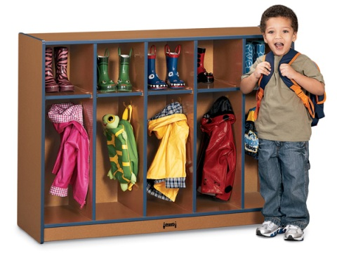 Toddler Coat Locker - 5 Sections