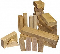 28- Piece Wood Block Set- Wooden Toy Made in the USA