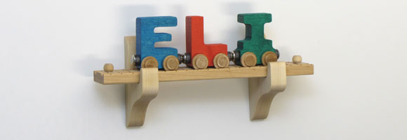 NameTrain Wall Mount Set w/3 Cars