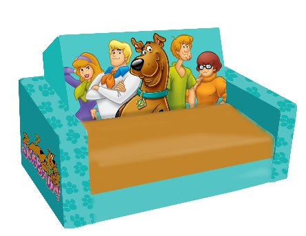 Scooby-Doo Paws Kids Flip Sofa