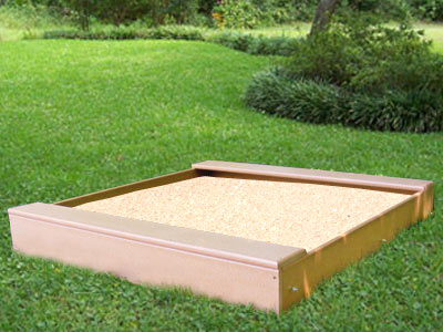 5ft Poly Sandbox w/Two Full Benches