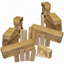 48- Piece Wood Block Set- Wooden Toy Made in the USA