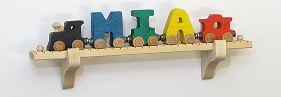 NameTrain Wall Mount Set w/5 Cars