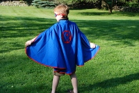 Kids Personalized Super Hero Cape & Mask BLUE