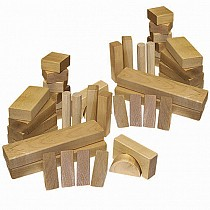 62-Piece Wood Block Set- Wooden Toy Made in the USA