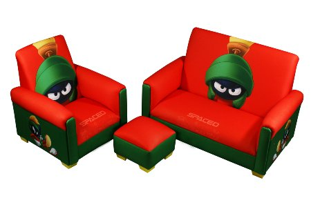Marvin the Martian Sofa Chair and Ottoman