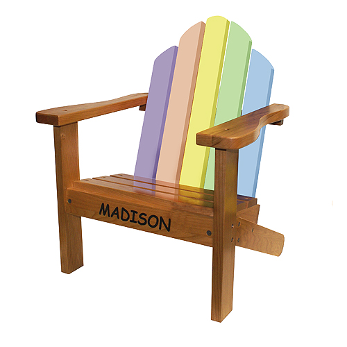 Adirondack Chair Pastel - Hardwood Chair Made in the USA