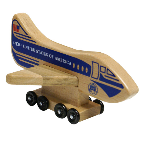 Wood Air Force One Airplane - Wooden Toy Made in the USA