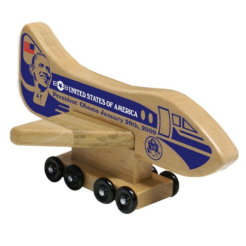 Wood Air Force One President Obama Toy Collectable - Made in the USA