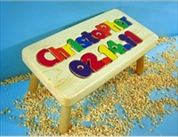 Personalized Name and Birthday Stool With 9-12 Letters