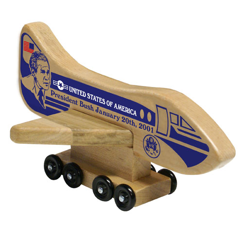 Wood Air Force One President Bush Jr. Toy Collectable - Made in the USA