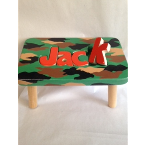 """New"" Handpainted Camo Stool"