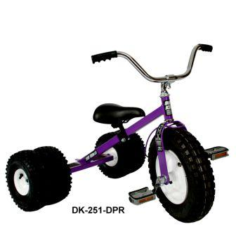 Dirt King Childs Dually Purple Tricycle