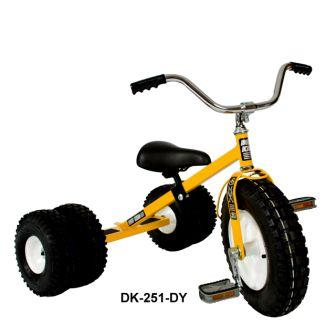 Dirt King Childs Dually Yellow Tricycle
