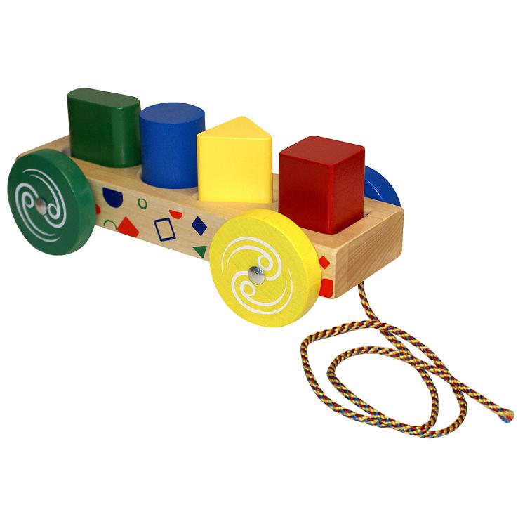 Form & Peg Wood Wagon- Wooden Toy Made in the USA