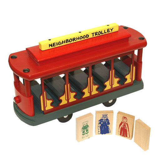 Classic Trolley- Wooden Toy Made in the USA