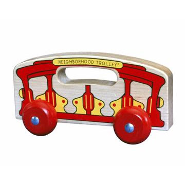 Fun Size Trolley- Wooden Toy Made in the USA