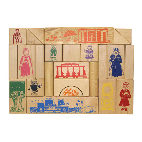 Neighborhood Wood Block Set- Wooden Toy Made in the USA