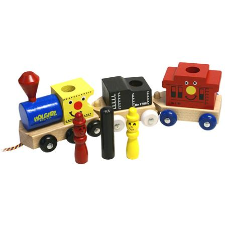 Wooden Holgate Express Train 3 piece Wood Train Set Made in the USA