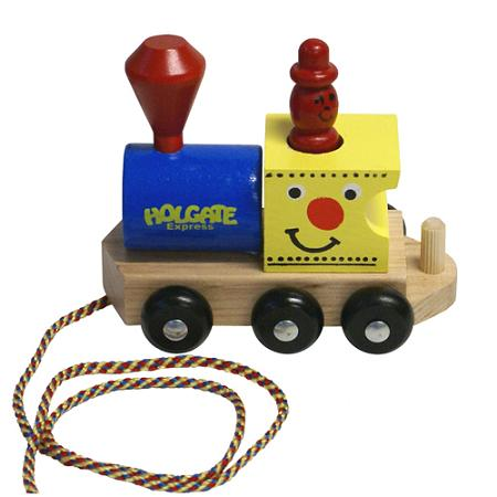 Wooden Holgate Express Train Engine Pull Toy