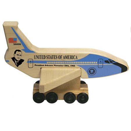 Wood Air Force One President Johnson Toy - Made in the USA