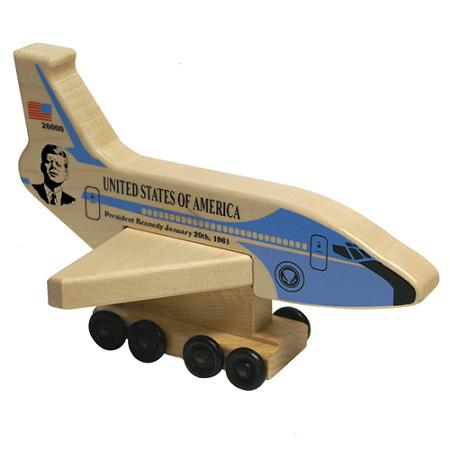 Wood Air Force One President Kennedy Plane Made in the USA