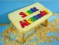 Personalized Two Name Large Stool With 9-12 Letters