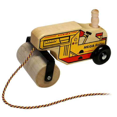 Wood Mega Steam Roller- Wooden Toy Made in the USA