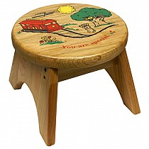 Mister Rogers' Trolley Step Stool