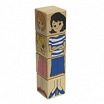 Mix & Match Me Wood Blocks  Made in the USA