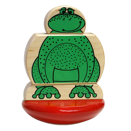 Wood Frog and Duck Mix & Match Wood Toy Made in the USA