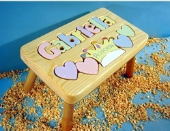 Personalized Name Princess Stool With 9-12 Letters