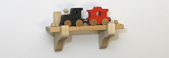 NameTrain Wall Mount Set w/2 Cars