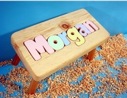 My Personalized Name Puzzle Stool (6-8 Letters)