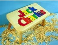Personalized Two Name Small Stool With 1-8 Letters