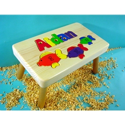 Fish Stool 1-8 Letters Natural Finish