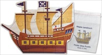 Shaped Jigsaw Puzzle, Pirate Ship