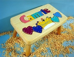 Personalized Name Princess Stool With 1-8 Letters