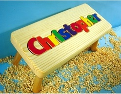 My Personalized Name Puzzle  Stool (9-12 Letters)