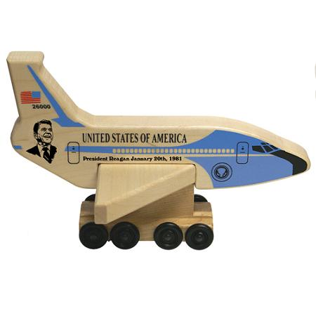 Wood Air Force One President Reagan Toy Made in the USA