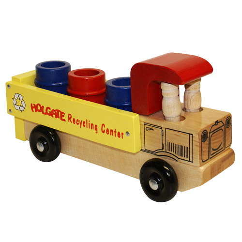 Wooden Recycle Truck - Made in the USA