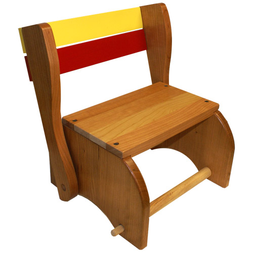 Classic Step Stool Chair (Solid Seat)