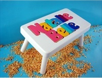White Two Name Small Stool With 1-8 Letters