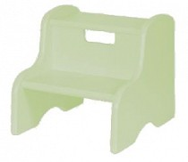 Solid Color Kid's Step Stool - Light Green