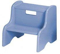 Solid Color Kid's Step Stool - Powder Blue
