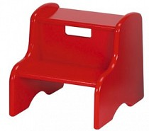 Solid Color Kid's Step Stool - Red