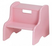 Solid Color Kid's Step Stool - Soft Pink
