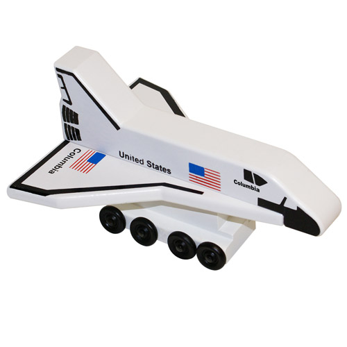 Wood Columbia Space Shuttle- Wooden Toy Made in the USA