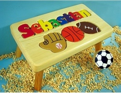 Puzzle Stool with Sports (9-12 Letters)